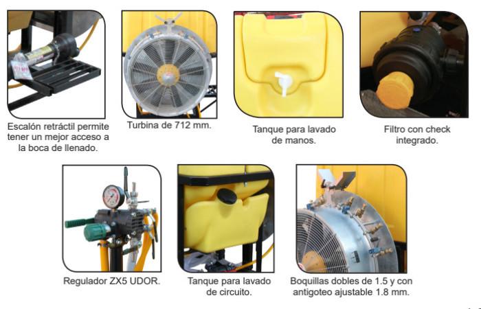 Aspersora para tractor de turbina Swissmex aerospray 840200